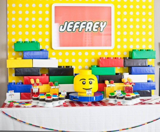Dessert Table - Lego Party