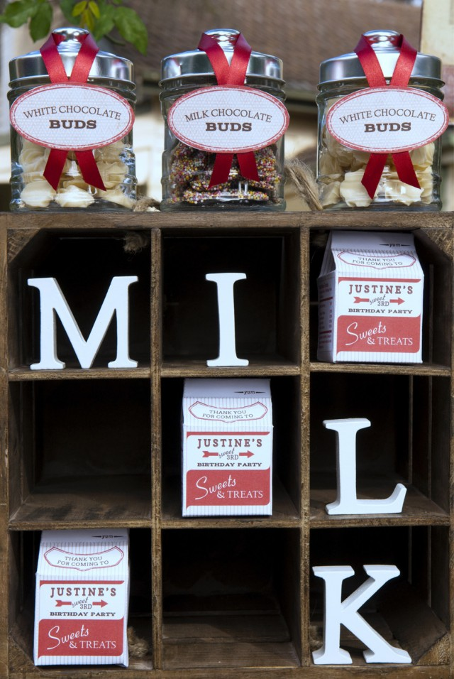 Vintage Milk and Cookies Party Decor