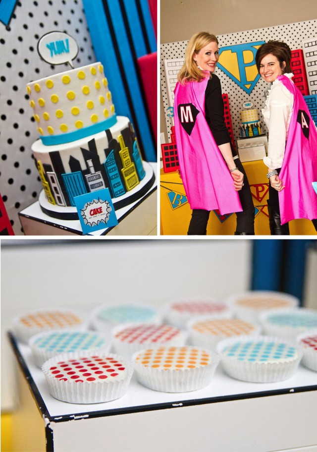 Vintage Super Hero Party Desserts