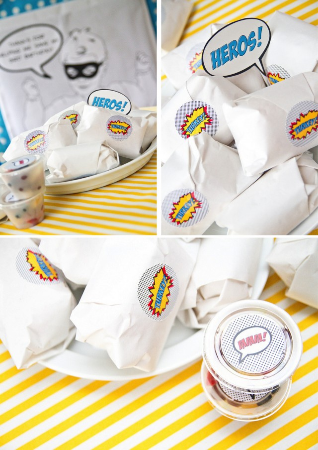Super hero party food ideas - hero sandwiches