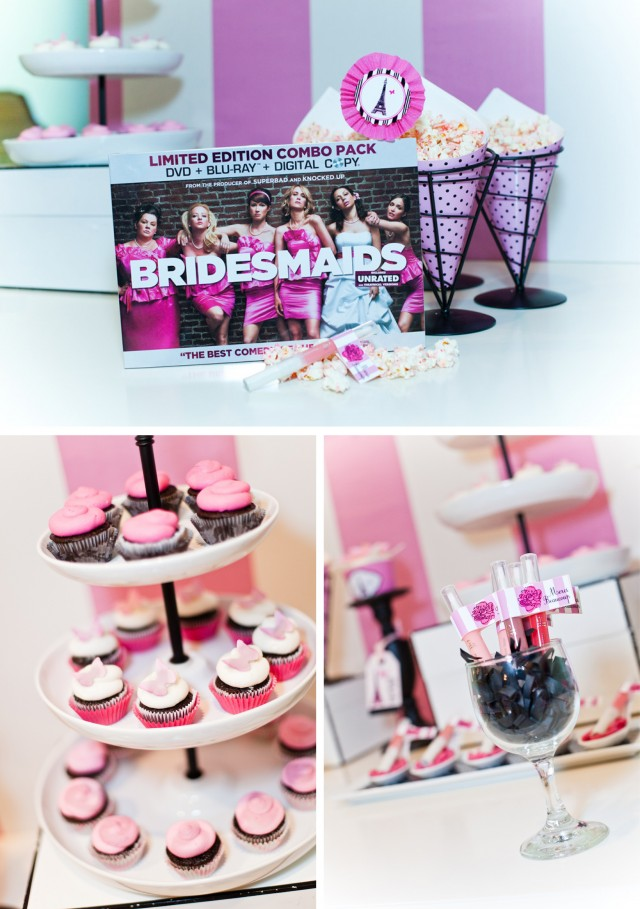 Bridesmaids DVD Blu Ray Photoshoot for Target - Dessert Table 2