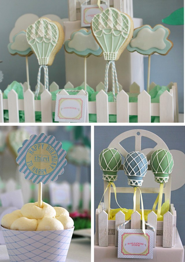 up up and away cupcakes and cake pops
