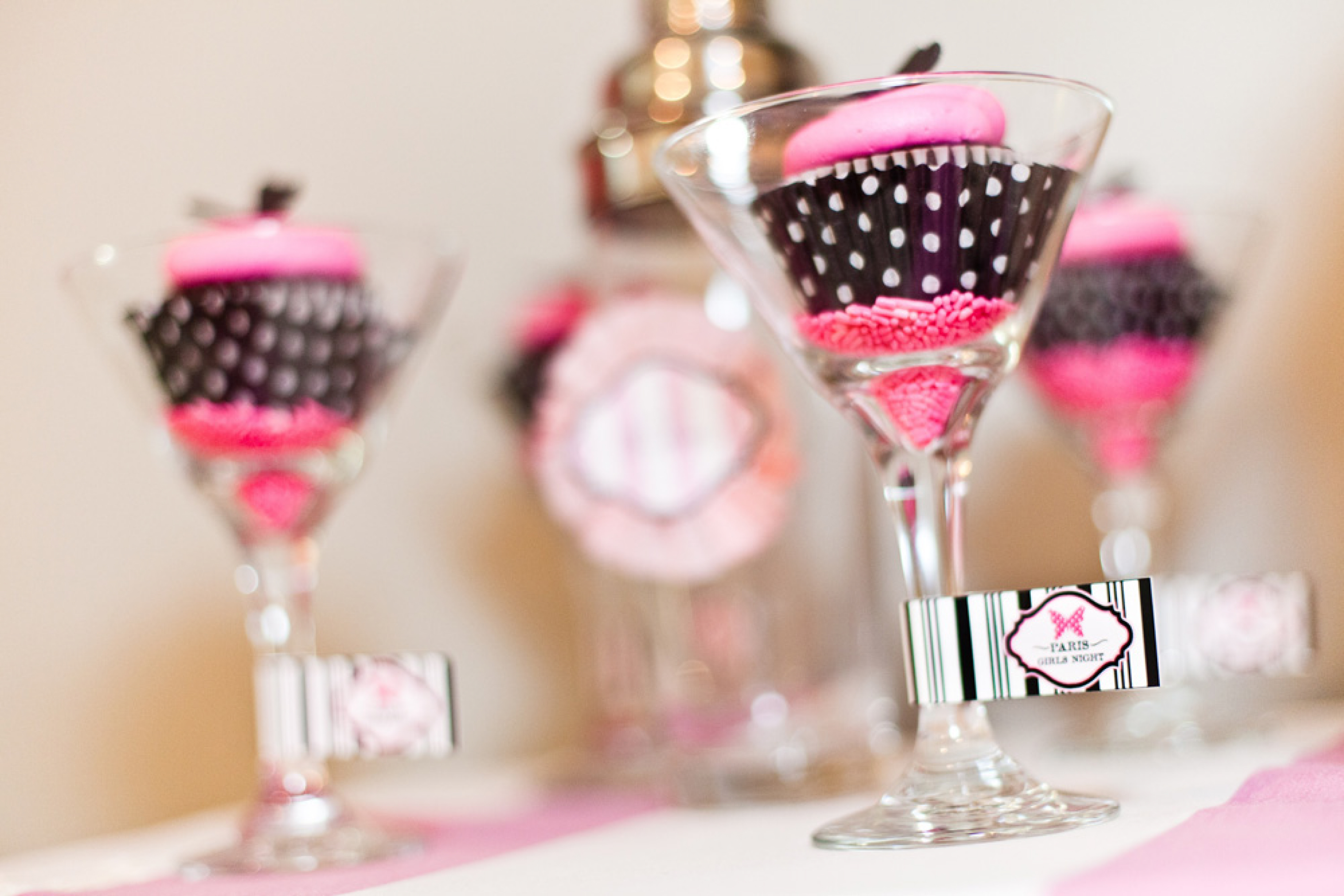 bridesmaids girls night in bar detail