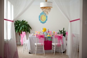 tea doll party room and table setup