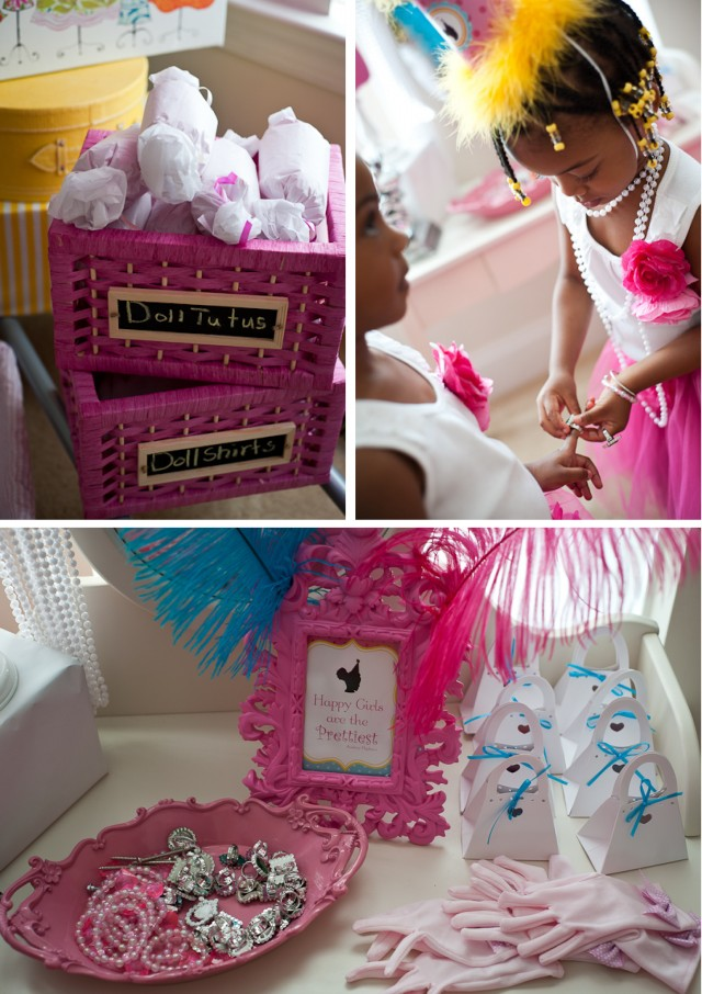 tea doll birthday party room and table setup