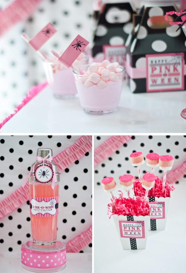 pink halloween party printable design collection 2