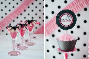 pink halloween party printable design collection 4