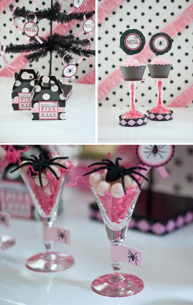 pink halloween party printable design collection 5