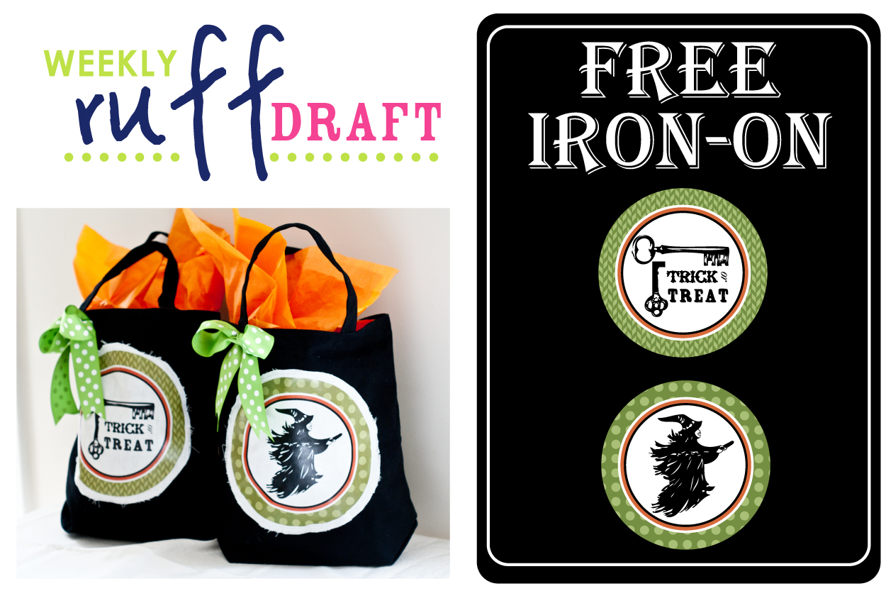 Ruff Draft: Free Halloween Iron-On for Trick or Treat Bags Anders Ruff ...