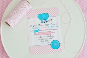printable baking cooking birthday party invitation