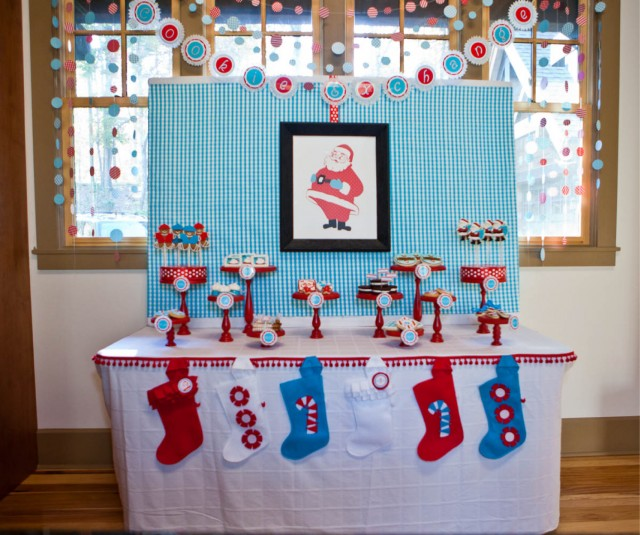 andersruff - north pole printable christmas party collections dessert table