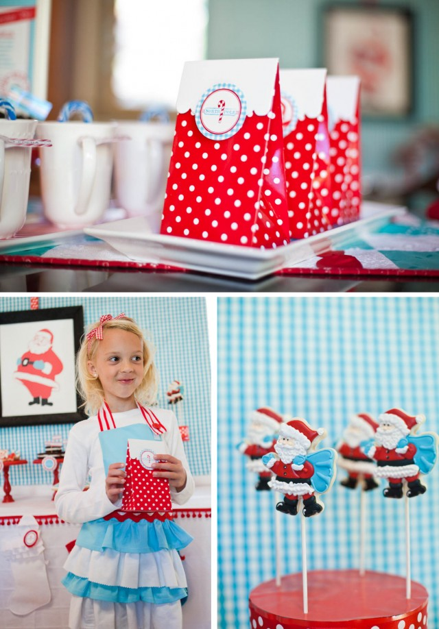 andersruff - north pole printable christmas party dessert table