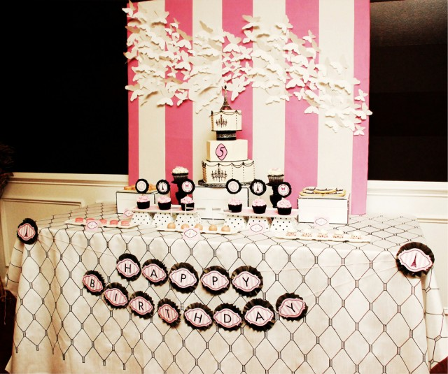 paris birthday party dessert table ideas