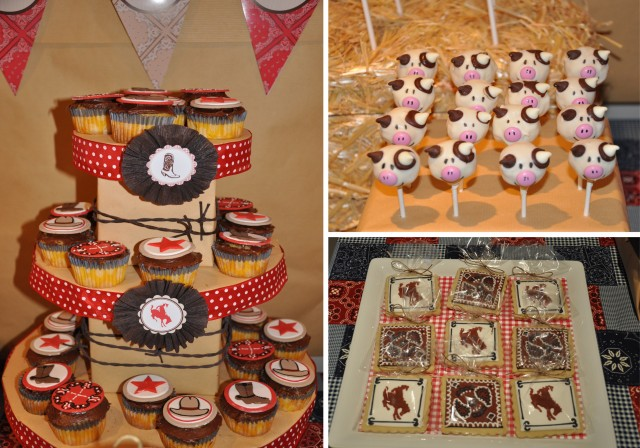 western cowboy party dessert table