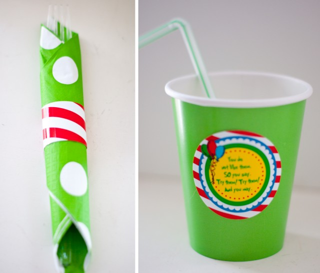 napkin wrap and cup