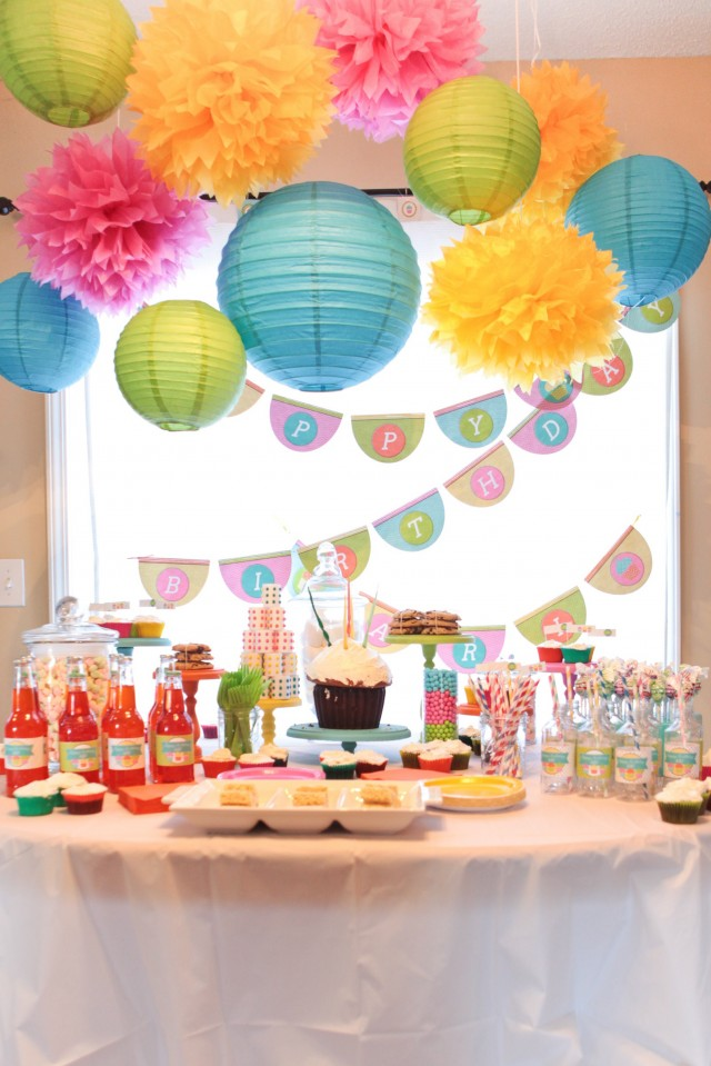A sweet cupcake birthday party anders ruff custom for B day party decoration ideas
