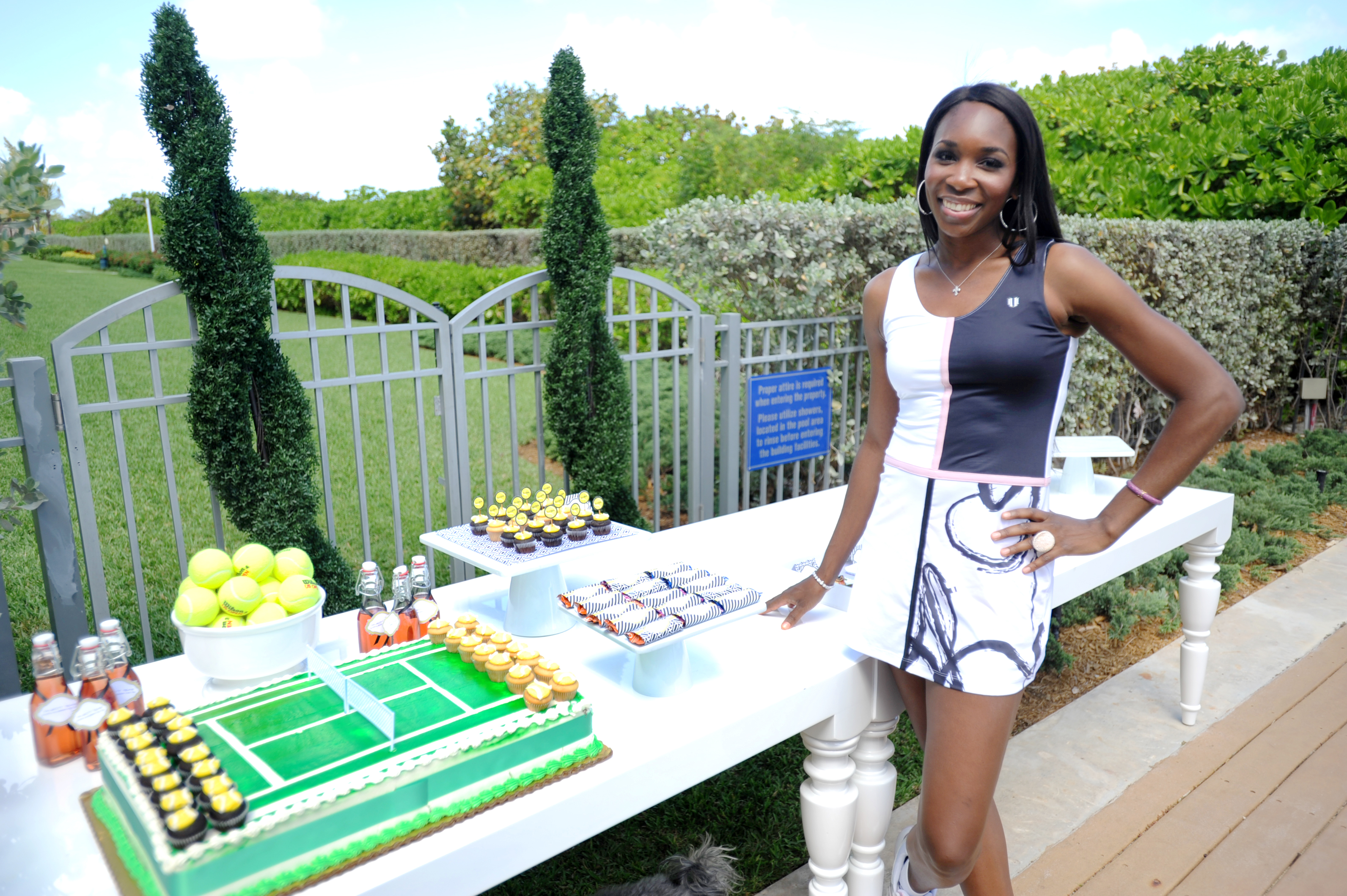 Venus Williams at the Launch of the Venus Williams EleVen Capsule Collection at The Bath Club, Miami Beach
