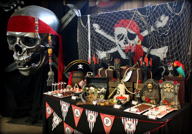 Pirate Party Backdrop A Birthday