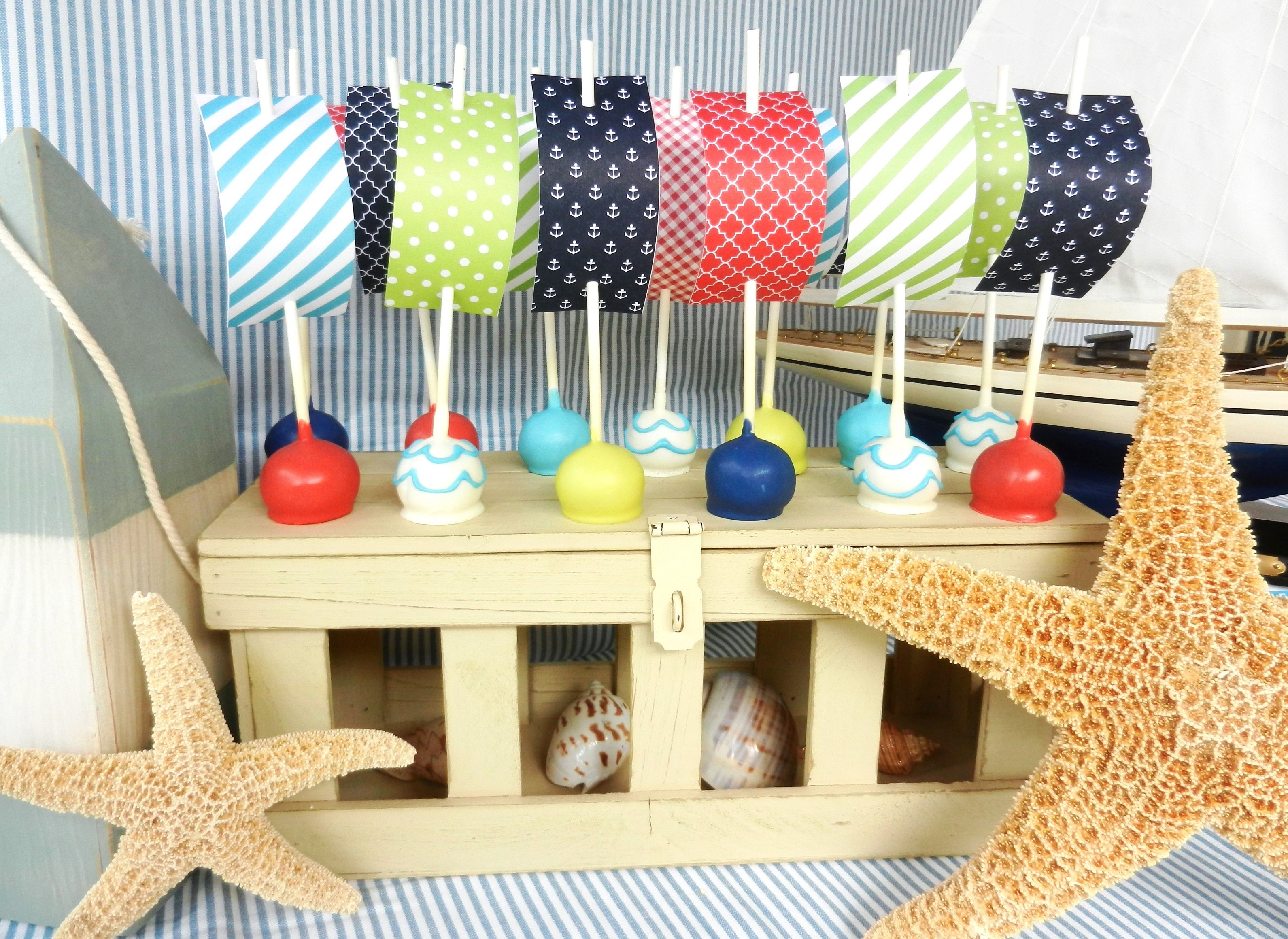 How To Make Nautical Themed Cake Pops