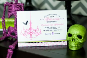 glam halloween glam o ween printable party invitation