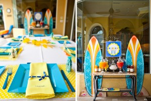 luau boy birthday party surf boards