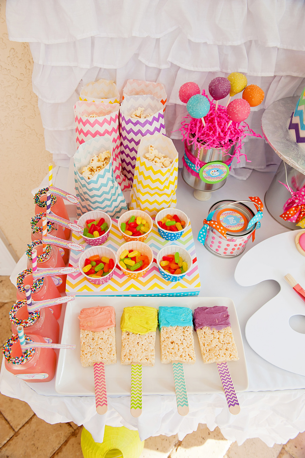 A Bright And Trendy Chevron Arts And Crafts Party
