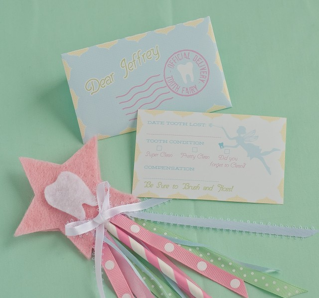 tooth fairy printable envelope and notecard