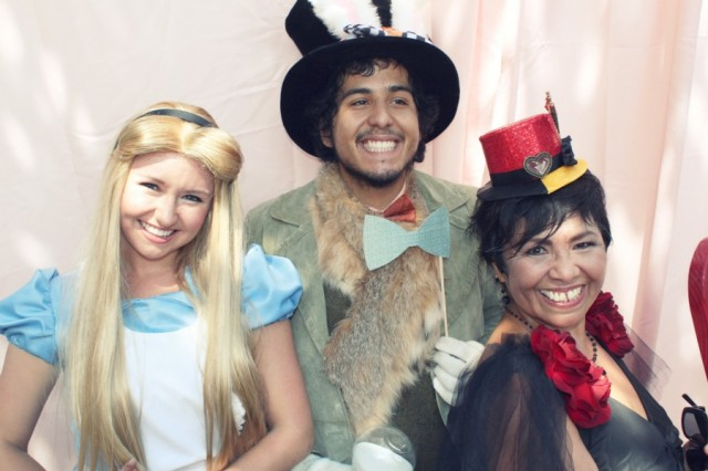 Alice in wonderland birthday party photo booth