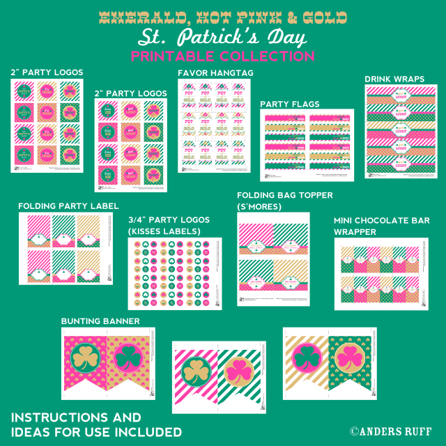 st patricks day printable designs