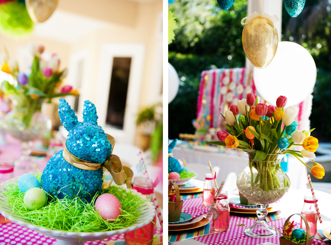 A bright and colorful easter party anders ruff custom - Decoration pour table ...