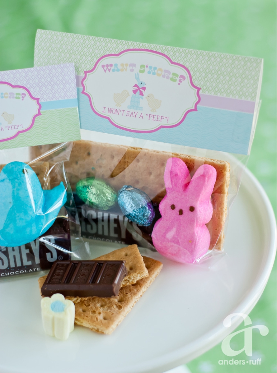 Find the printable Easter Peeps S'mores Bag toppers in the shop here ...