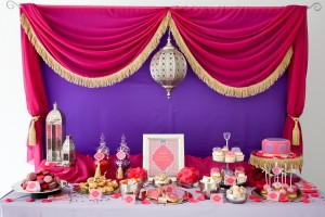 moroccan birthday party dessert table