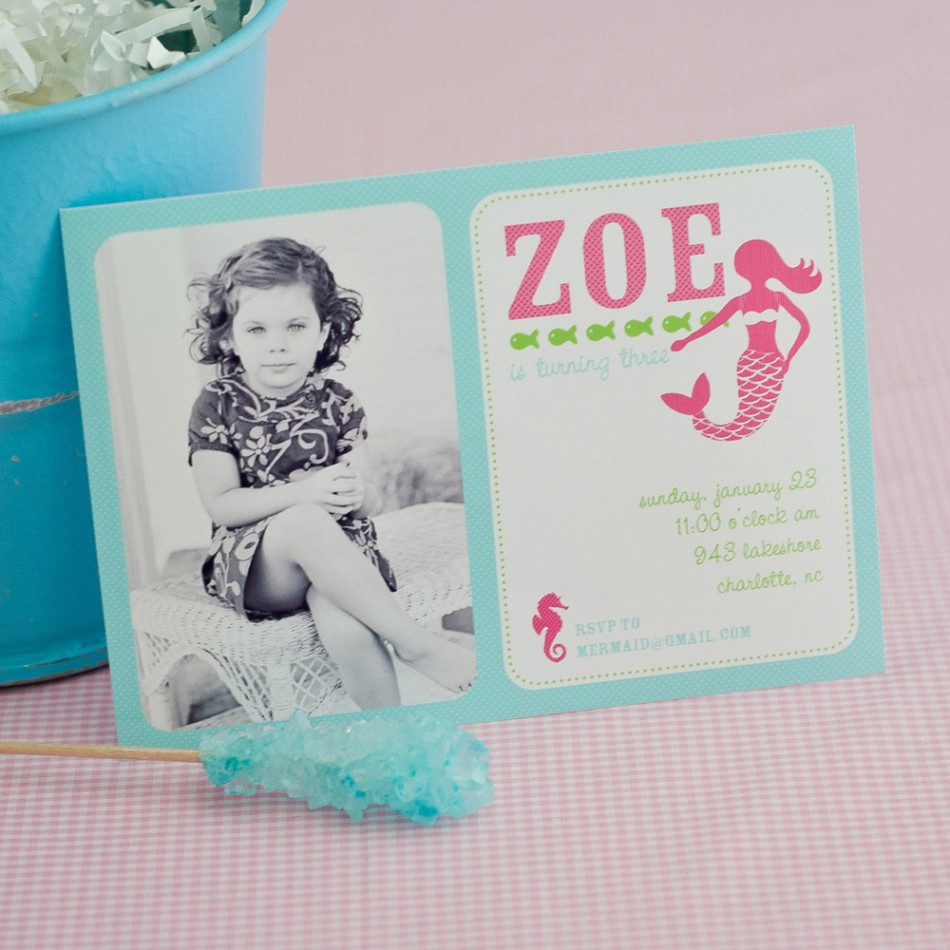 Mermaid Birthday Party Invitations is one of our best ideas you might choose for invitation design