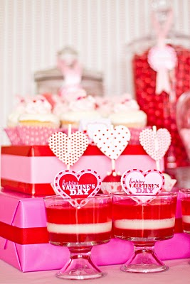 Layered jello example from i heart valentine's day
