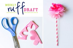 DIY tissue paper flowers on Ruff Draft