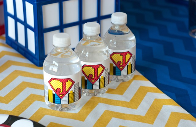 super hero drink wrappers