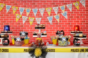 firetruck party dessert table
