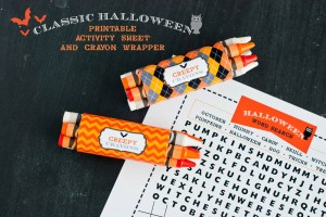 halloween crayon wrappers