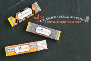 halloween printable gum pack wrappers