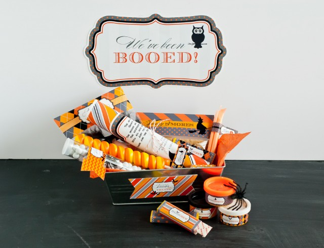 Free printable boo sign classic halloween