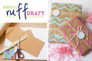 Making chevron wrapping paper and stamp