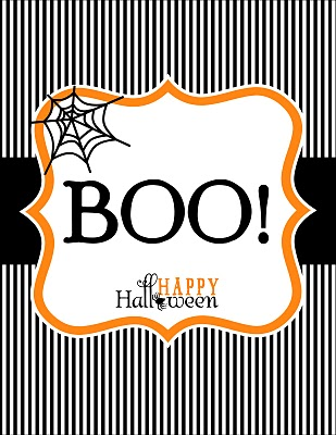 happy halloween printables