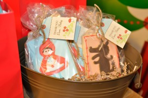 red riding hood birthday party cookies