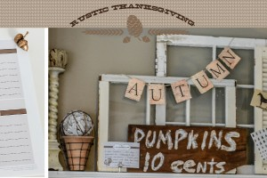 Rustic Thanksgiving - I am thankful for cards - Free Printables
