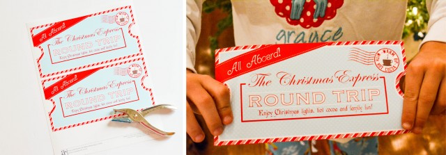 FREE PRINTABLE Christmas Express Ticket