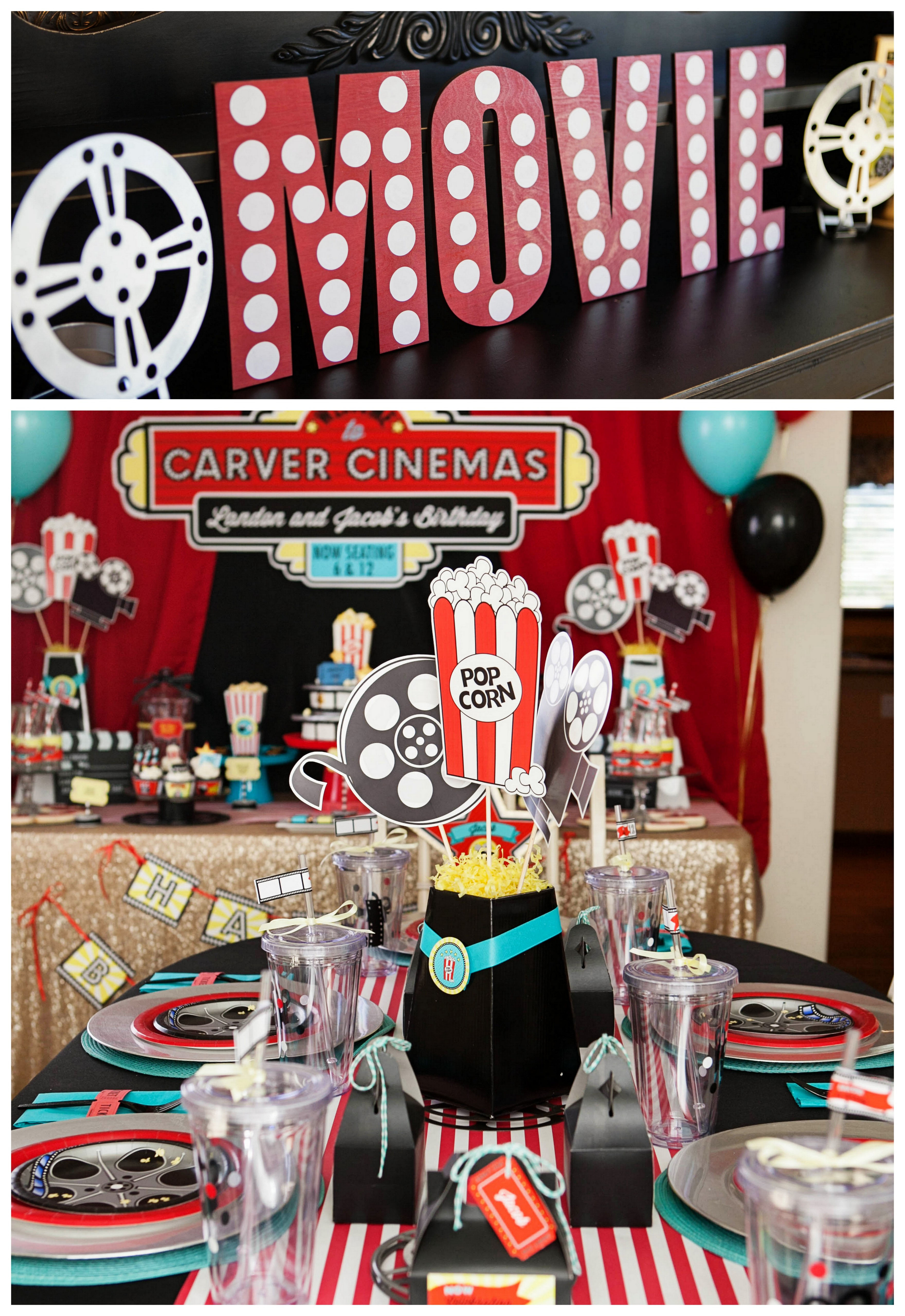 A Hollywood Movie Themed Party Everyday Party Magazine