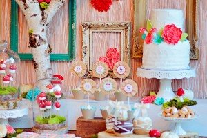 owl party dessert table