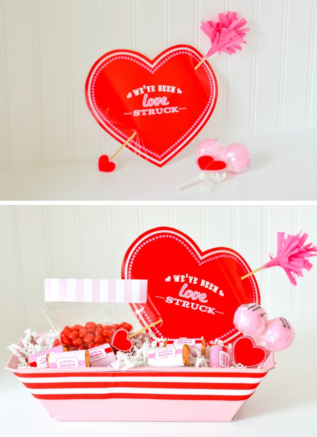 Making sweet treats with We've Been Love Struck Valentine Cards