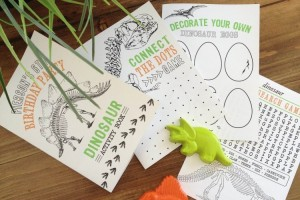dinosaur printable coloring book
