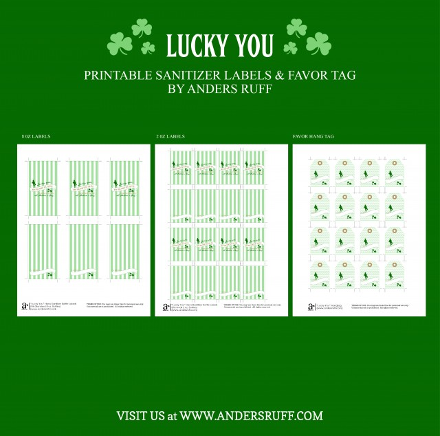 St. Patrick's Day Hand Sanitizer Labels